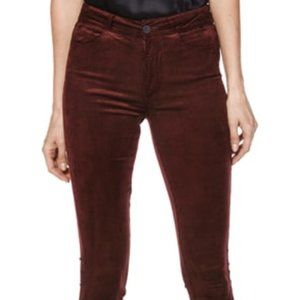 Paige Transcend High Waist Skinny Ribbed Jeans